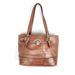 Giani Bernini | Brown Animal Print Satchel Bag